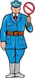 stopp för tecken för tjänstemanpolispolis Royaltyfria Foton