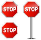 Stopp för trafiktecken royaltyfri illustrationer