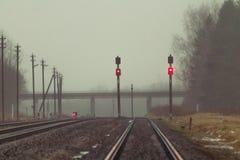 Stopp! Linje stängd x2 Royaltyfria Bilder