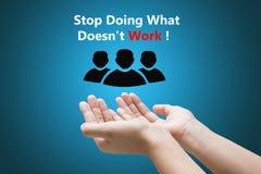 Stoppa att göra vad inte arbetar! Royaltyfri Bild