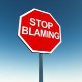 Stoppa att klandra stock illustrationer