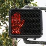 Stoppa att korsa teckenljus Royaltyfria Bilder