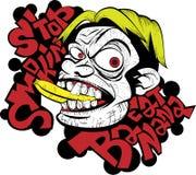 Stoppa att röka äter bananen Arkivfoton