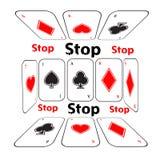 Stoppa att spela böjelse isolerad white för begrepp fara illustration royaltyfri illustrationer