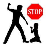 Stoppa barnmisshandel Arkivfoton
