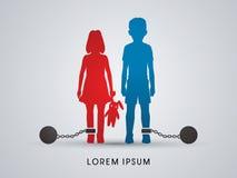 Stoppa barnmisshandeldiagramvektorn vektor illustrationer
