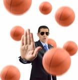 Stoppa basket Arkivbild