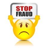 Stoppa bedrägeritecknet Royaltyfri Bild