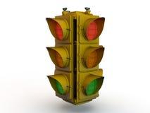 Stoppa den ljusa signalen - materielbild Arkivfoto