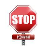 Stoppa designen för pessimismvägvisareillustrationen Fotografering för Bildbyråer