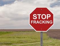 Stoppa det Fracking tecknet Royaltyfri Fotografi