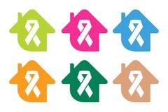 Stoppa det medicinska affischbegreppet för cancer stock illustrationer