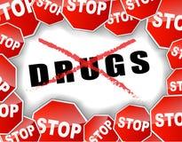 Stoppa droger Royaltyfria Foton