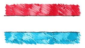 Stoppa för den Luxembourg för rörelse markören drog symbolet för bakgrund för animeringen för tecknade filmen flaggan nya kvalite lager videofilmer