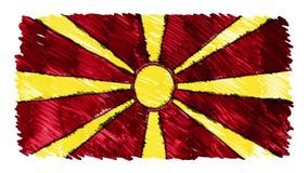 Stoppa för den Makedonien för rörelse markören drog symbolet för bakgrund för animeringen för tecknade filmen flaggan nya kvalite stock video