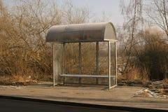 stoppa för kollektivtrafikbussar Arkivbilder