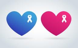 Stoppa för logosymbolen för cancer det medicinska begreppet vektor illustrationer