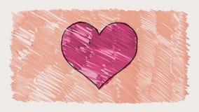 Stoppa för markörhjärta för rörelse dragen bakgrund för öglan för animeringen för tecknade filmen för form sömlös Ny kvalitets- u royaltyfri illustrationer