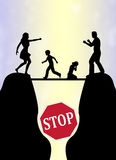 Stoppa familjkampen Royaltyfria Foton