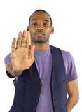 Stoppa gesten Royaltyfria Foton