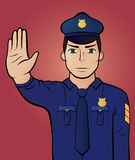 Stoppa gesten Royaltyfri Fotografi