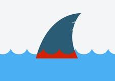 Stoppa hajen som finning color vektorn för det set symbolet för flamman Royaltyfri Bild