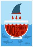 Stoppa hajen som finning Vektorfärgaffisch Arkivfoton