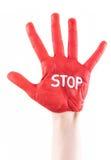 Stoppa handen Royaltyfri Foto