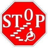Stoppa handikappdiskriminering Fotografering för Bildbyråer