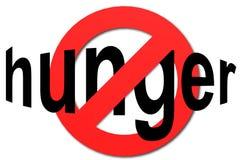 Stoppa hunger undertecknar in rött Royaltyfria Bilder