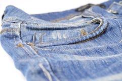 Stoppa i fickan av jeans Arkivbild
