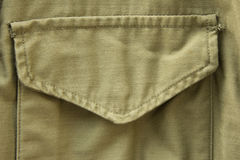 Stoppa i fickan av militärt enhetligt Arkivbild