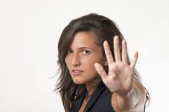 stoppa kvinnan Arkivbilder