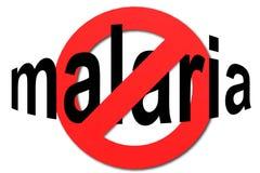 Stoppa malaria undertecknar in rött Royaltyfria Foton
