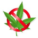 Stoppa marijuanatecknet Arkivbild