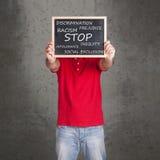 Stoppa meddelandet för rasism och för det sociala uteslutandet arkivfoton