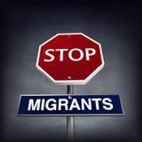 Stoppa migranter vektor illustrationer