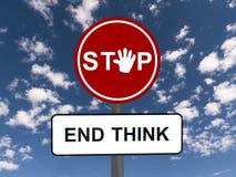 Stoppa och avsluta funderaren Fotografering för Bildbyråer
