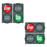 Stoppa och gå Fotografering för Bildbyråer