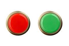 Stoppa och gå knappöverkanten/den främre sikten Arkivbilder