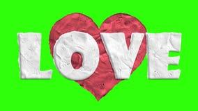 Stoppa rörelselera som göras hjärta för att forma bakgrund för skärmen för gräsplan för tangenten för chroma för öglan för animer vektor illustrationer
