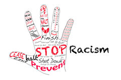 Stoppa rasism Royaltyfria Foton