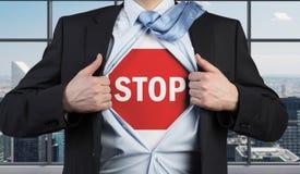 stoppa symbolet fotografering för bildbyråer