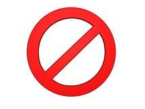 stoppa symbolet Vektor Illustrationer