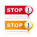 Stoppa tecken stock illustrationer