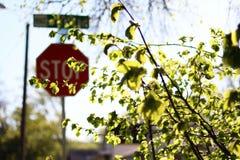 Stoppa teckenkonst Arkivfoto