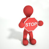 Stoppa teckenpersonen Arkivfoton