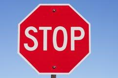 Stoppa tecknet Arkivfoto