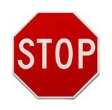 Stoppa tecknet Arkivbild