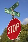 Stoppa tecknet Royaltyfri Fotografi